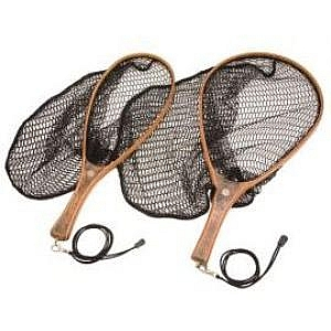 Snowbee Wooden Frame Hand Trout Nets - With Rubber Mesh
