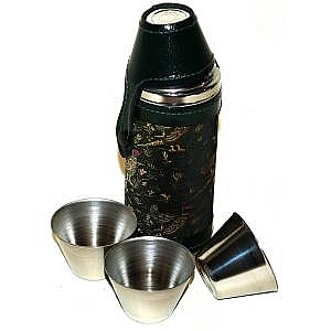 8oz  Flask with 4 cups