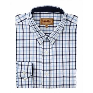 Schoffel Brancaster Shirt Blue Check