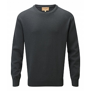 Schoffel Cashmere/Cotton Crew Neck Racing Green