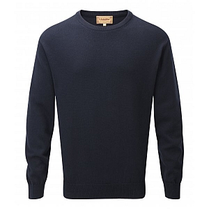 Schoffel Cashmere/Cotton Crew Neck Navy