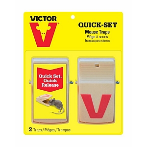 Victor Quick Set Mouse Trap 2 Pack