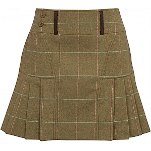 Alan Paine Compton Ladies Tweed Pleated Hem Skirt 42cm