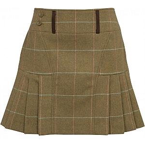 Alan Paine Compton Ladies Tweed Pleated Hem Skirt 42cm
