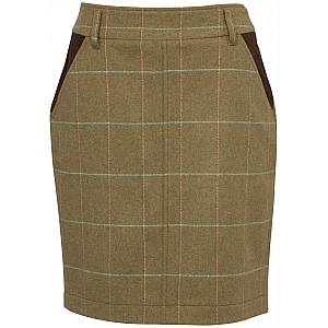 Alan Paine Compton Ladies Tweed Long Skirt 49cm Meadow