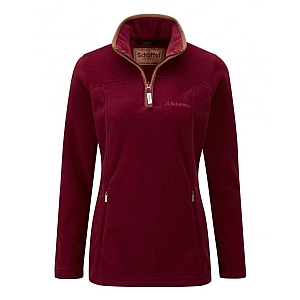Schoffel Tilton ¼ Zip Fleece Ruby