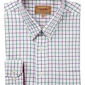 Schoffel Banbury Green/Pink Check Shirt