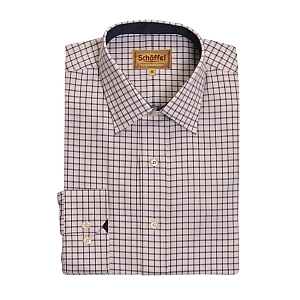 Schoffel Cambridge Navy Check Shirt