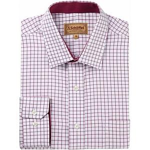 Schoffel Cambridge Raspberry Check Shirt