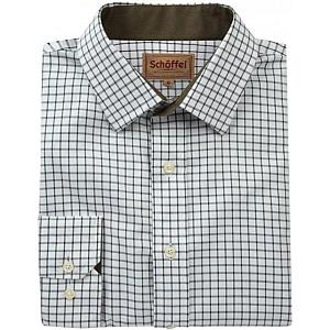 Schoffel Cambridge Dark Olive Check Shirt