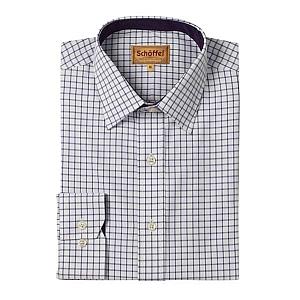 Schoffel Cambridge Purple Check Shirt