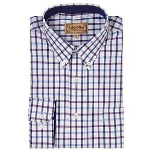 Schoffel Brancaster Shirt Purple Check