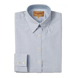 Schoffel Oxford Ladies Cotton Shirt Blue