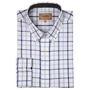 Schoffel Brancaster Light Blue Check Shirt