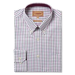 Schoffel Banbury Pink/Olive Check Shirt