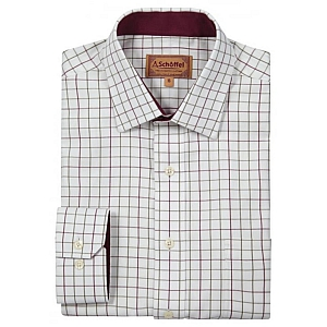 Schoffel Burnham Tattershall Shirt Ruby Check