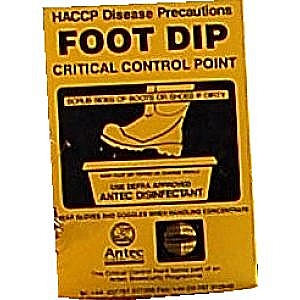 Foot Dip Sign
