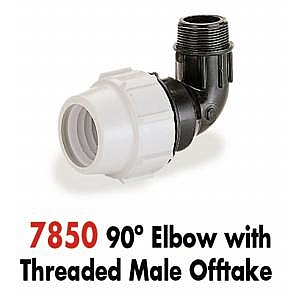 Plasson 90% Elbow with Male Offtake