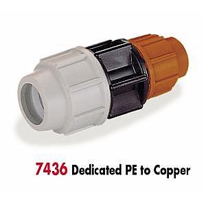 Plasson PE to Copper