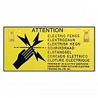 view Electric Fence Warning Sign details