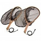 view Snowbee Wooden Frame Hand Trout Nets - With Rubber Mesh details